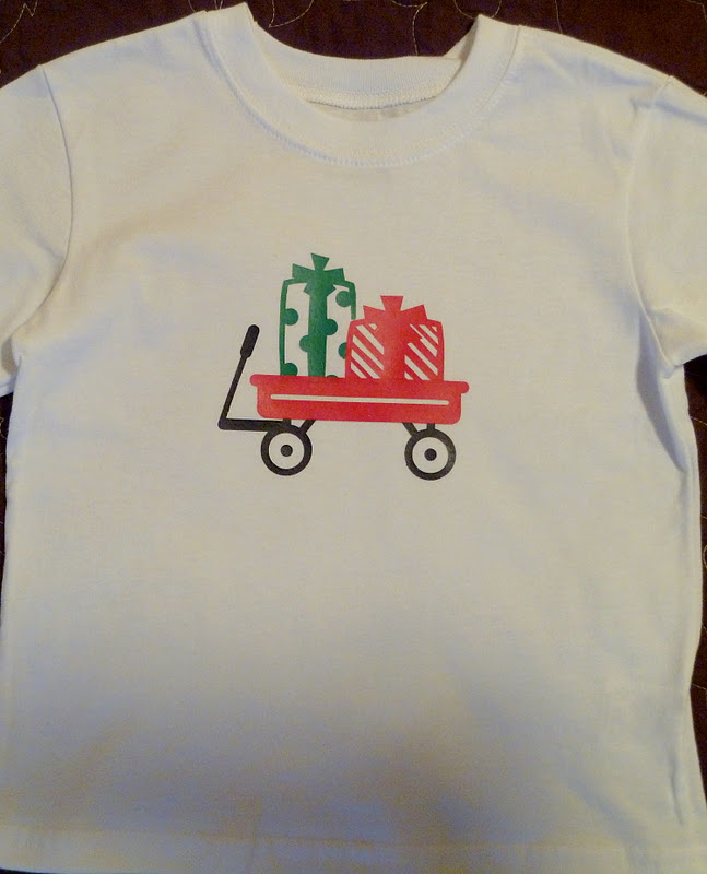 christmas shirts with iron on vinyl