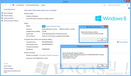 cara aktivasi windows 8 pro build 9200 tanpa software