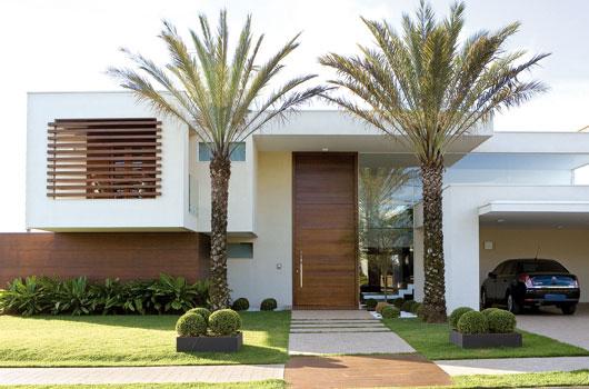 Construindo Minha Casa Clean: Jardins Externos!!! Fachadas com ...