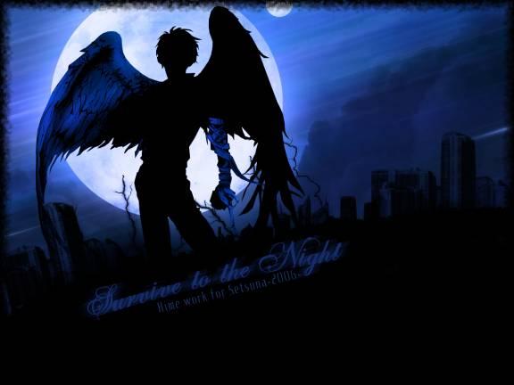 Dark+anime+angel+wallpaper