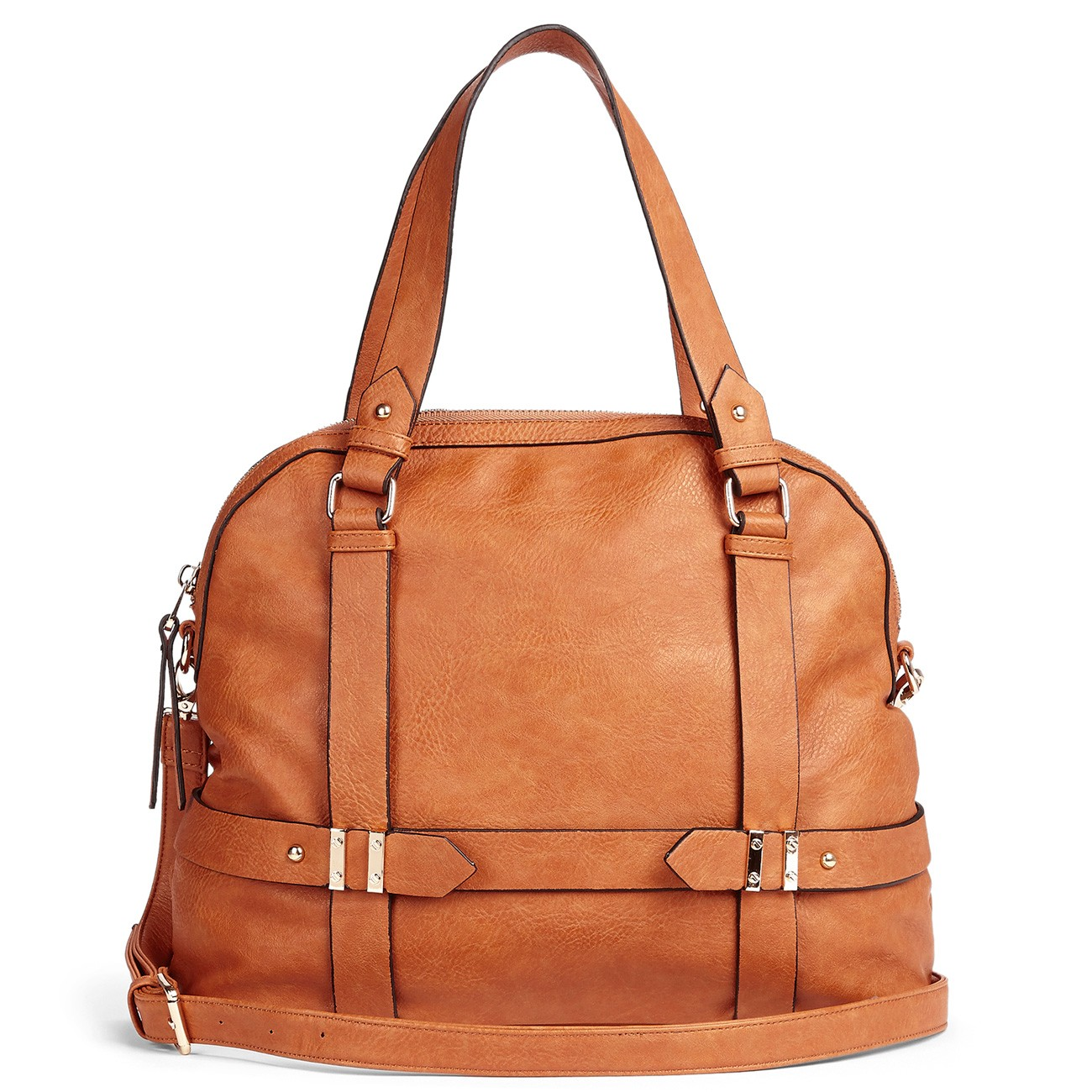 soft faux leather tote