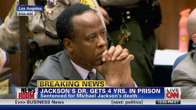 Conrad Murray Sentenced To The MAXIMUM In Michael Jackson Death