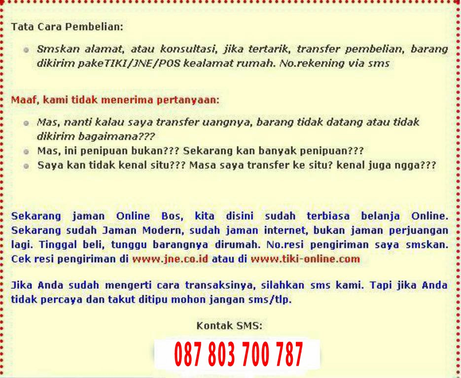 cara pemesanan obat denature indonesia