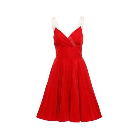 Κοκκινο ταφταδενιο φορεμα. Νew Collection