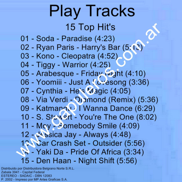 Buelax Discografia; Play Tracks