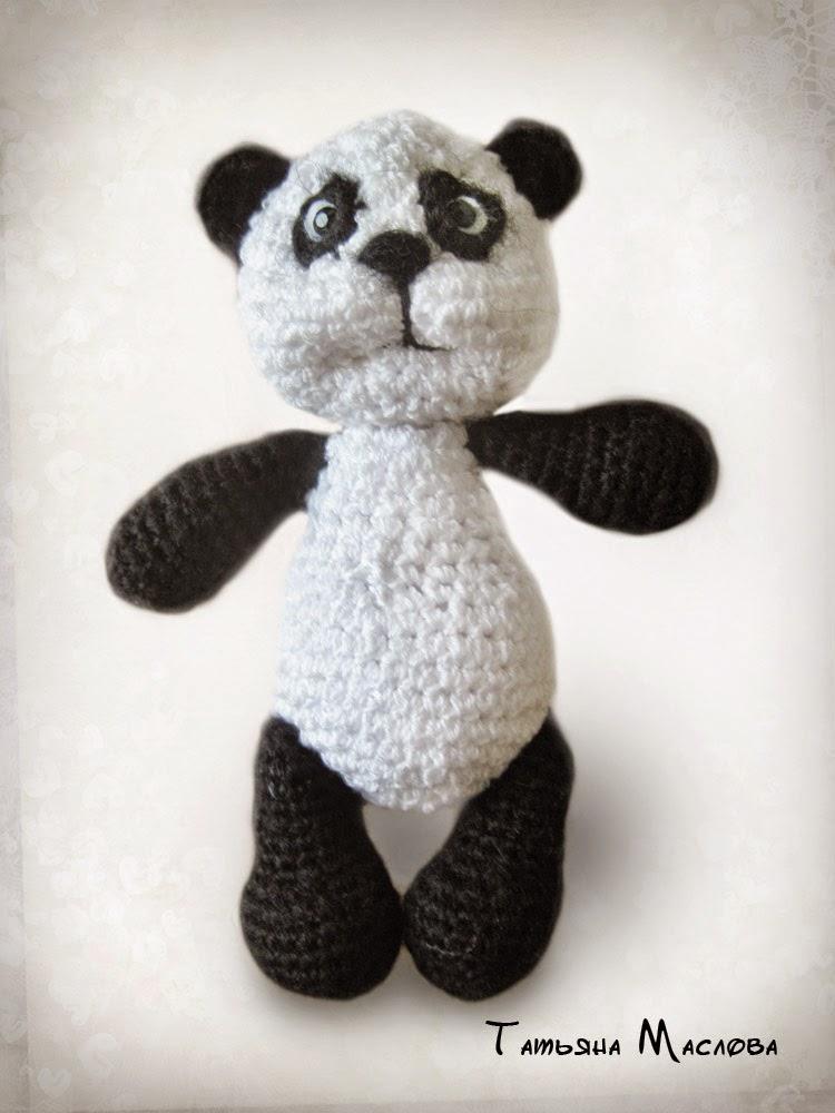 Мишка панда вязаный крючком мастер класс