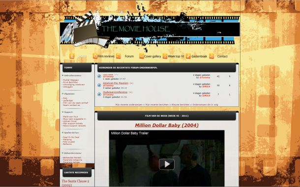 Free Vintage Brown Movies Php-fusion Skin Theme