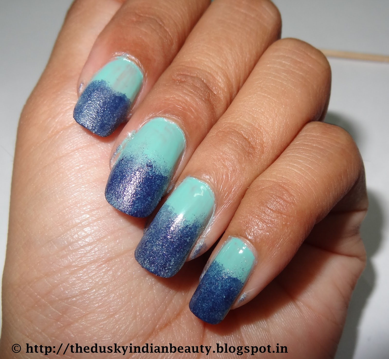 Pictorial my first attempt at ombre gradient sponging nail art uzma etc but this was my first attempt at sponging nail art after inspiration from all the lovely nail artists here and i hope you guys like it prinsesfo Image collections