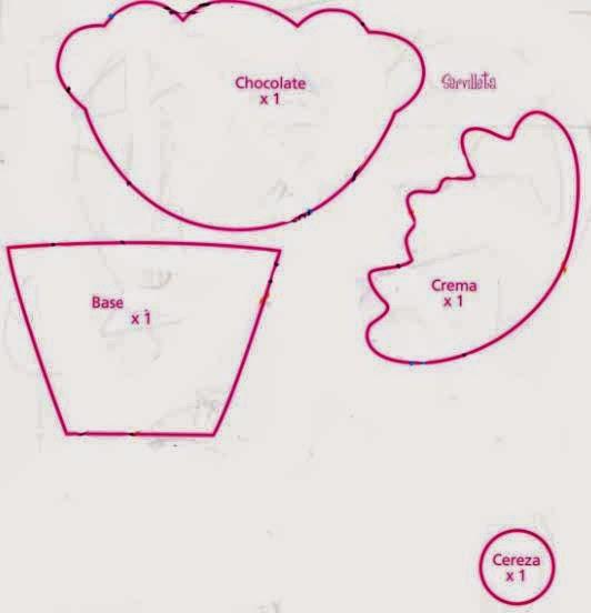 Moldes apliques de cupcake - Manualidades para hacer en un cumpleanos ...