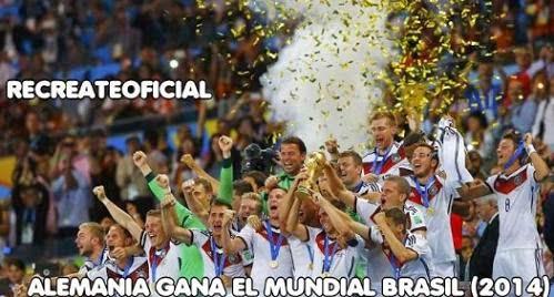 ALEMANIA GANA MUNDIAL BRASIL 2014...