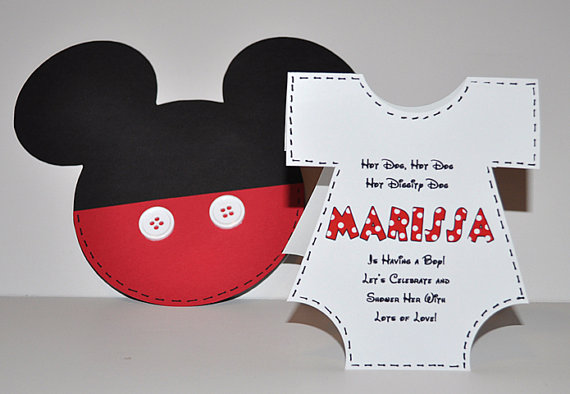 Mickey Mouse Baby Shower Invitation Templates