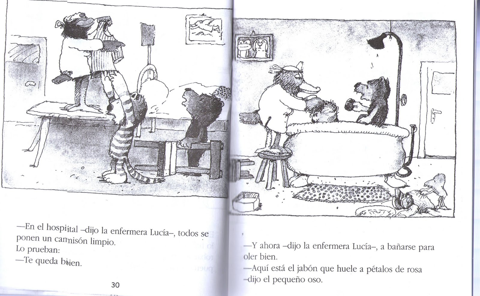 yo te curare dijo el pequeno oso: