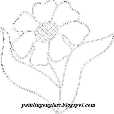 Stained Glass Flower Potholder - CrochetSal's crochet patterns and
