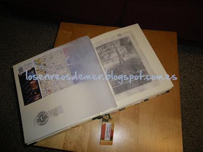 Detalle de álbum realizado con la técnica del cartonaje
