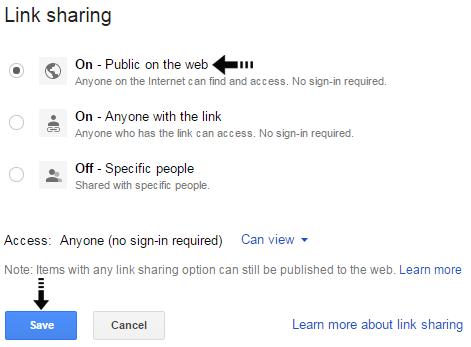 public sharing