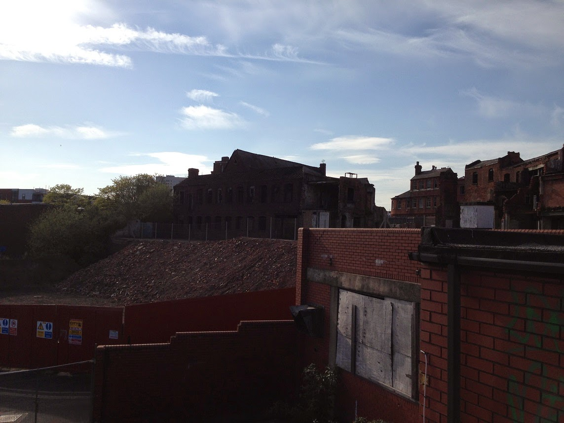 Abandoned buildings, Legge Lane, Jewellery Quarter, Birmingham