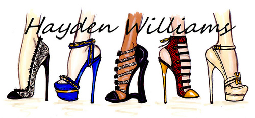 hayden williams fashion illustrator shoe illustration sketches drawings