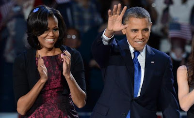 President Obama and Wife Michelle After Winning 2012 Re-Election