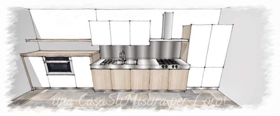 Una casasumisura per loro come progettare la cucina - Cucine in linea moderne ...