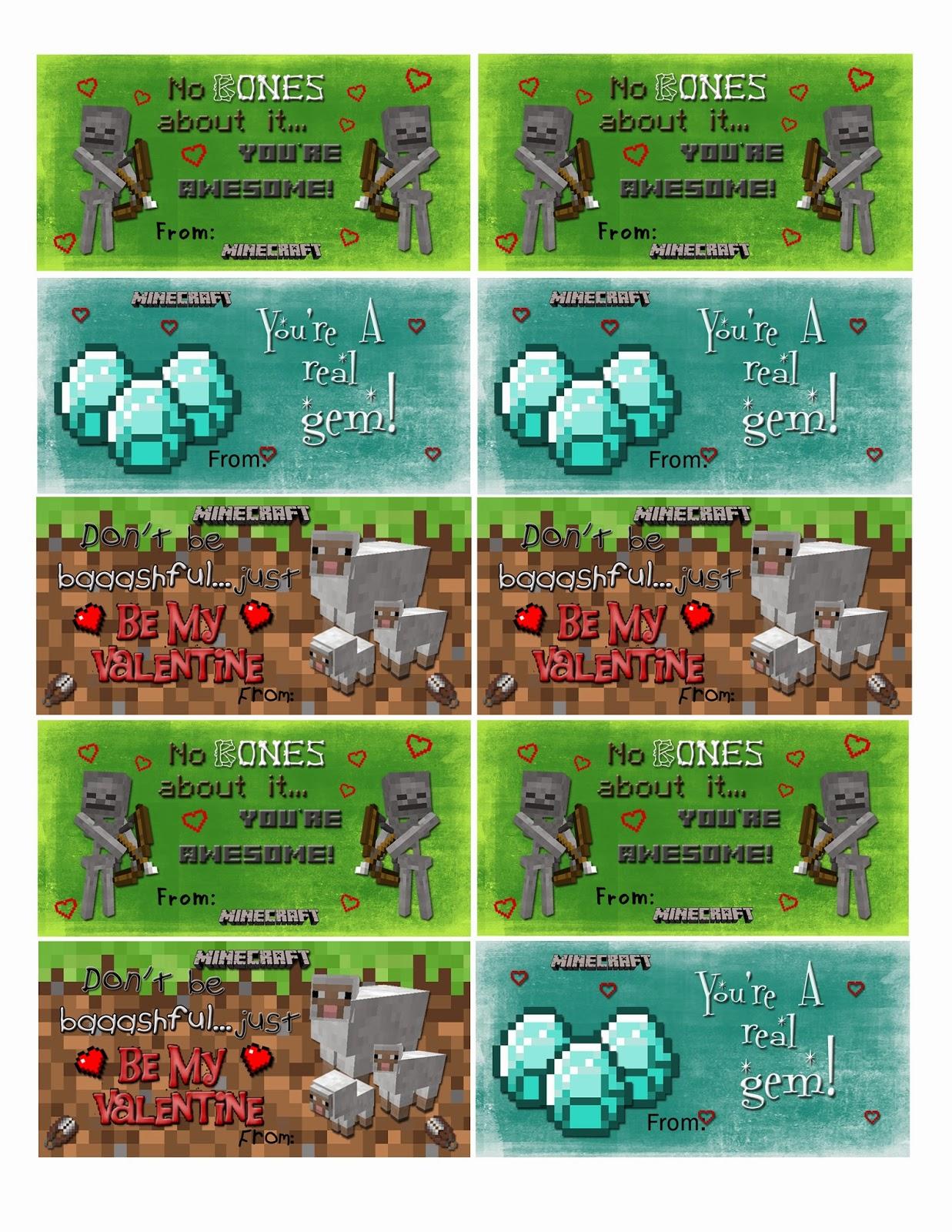 Cassie S Creative Crafts Diy Minecraft Valentine Cards Box
