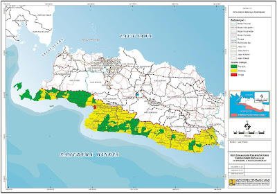 Peta Resiko Gempa Bumi – Arahan Pemanfaatan Ruang Pansela Bagian Barat