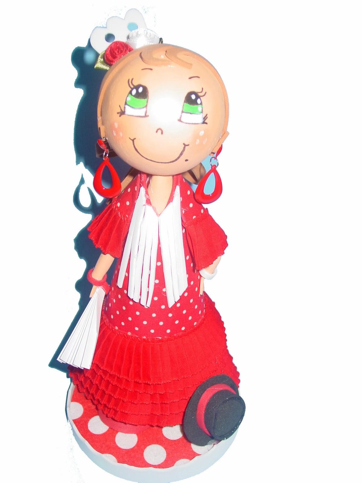 Fofucha vestida de flamenca