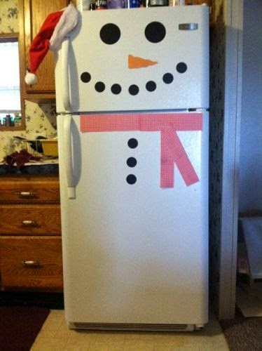 Carinho e casa enfeitando a geladeira pro natal for Decoracion hogar queretaro