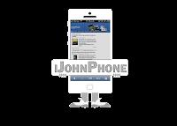 iJohnPhone Logo en blanco