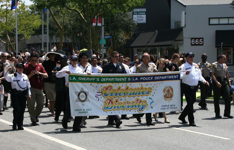 Police LA Pride Parade 2012