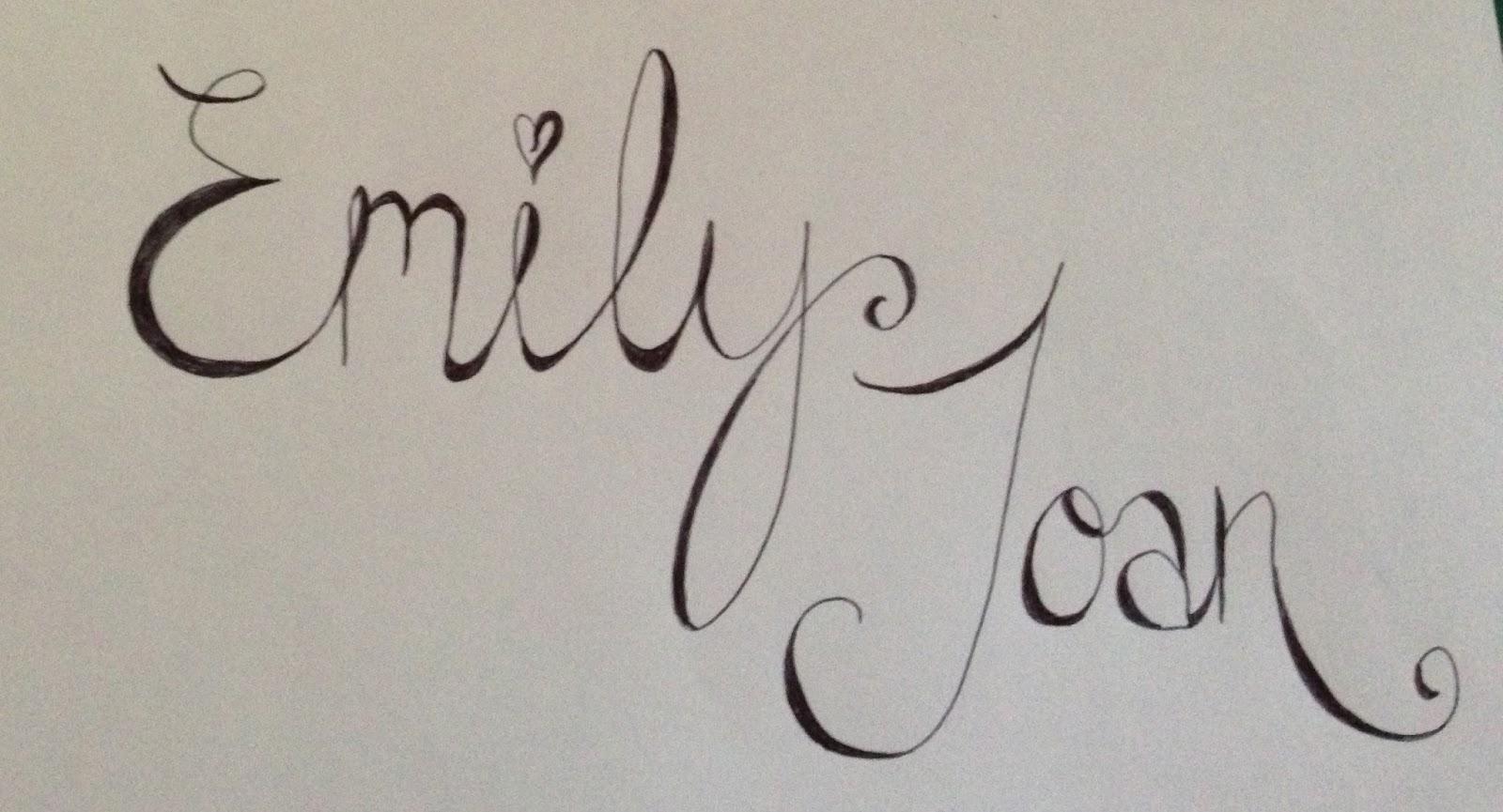 Emily Joan Fake Calligraphy Pinterest Wednesday