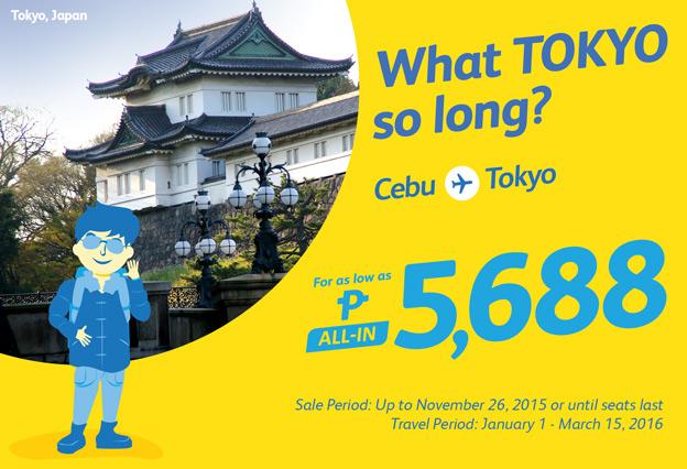 Cebu Pacific Airline Cebu to Tokyo 2015 2016