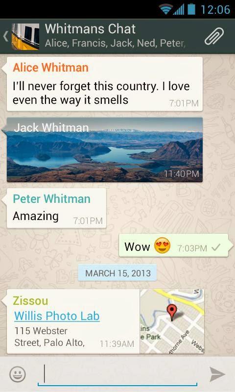 Aplikasi Android WhatsApp Messenger Terbaru Asik - 2