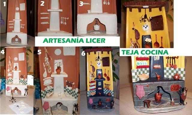 Artesania licer teja cocina rustica - Como decorar tejas rusticas ...