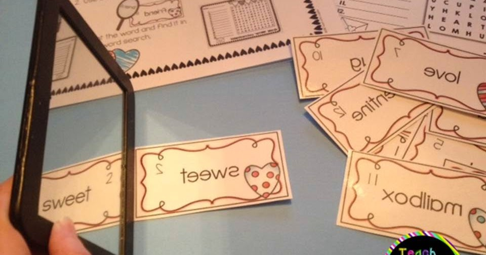 Teach With Laughter: Valentine's Day Mirror Words