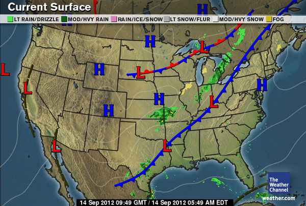 Daily Weather Newsletter: 2012-09-09