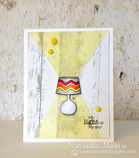 Lamp card by Samantha Mann using Around the House stamp set |  Newton's Nook Designs