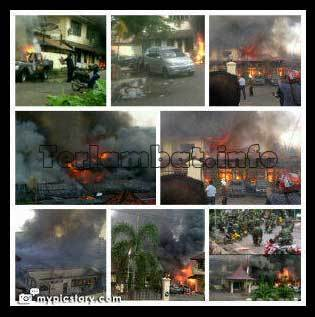 Foto Pembakaran Polres OKU