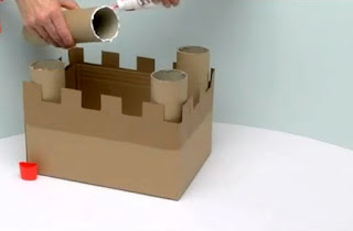 Project 8. Making a castle in group | Creative kids