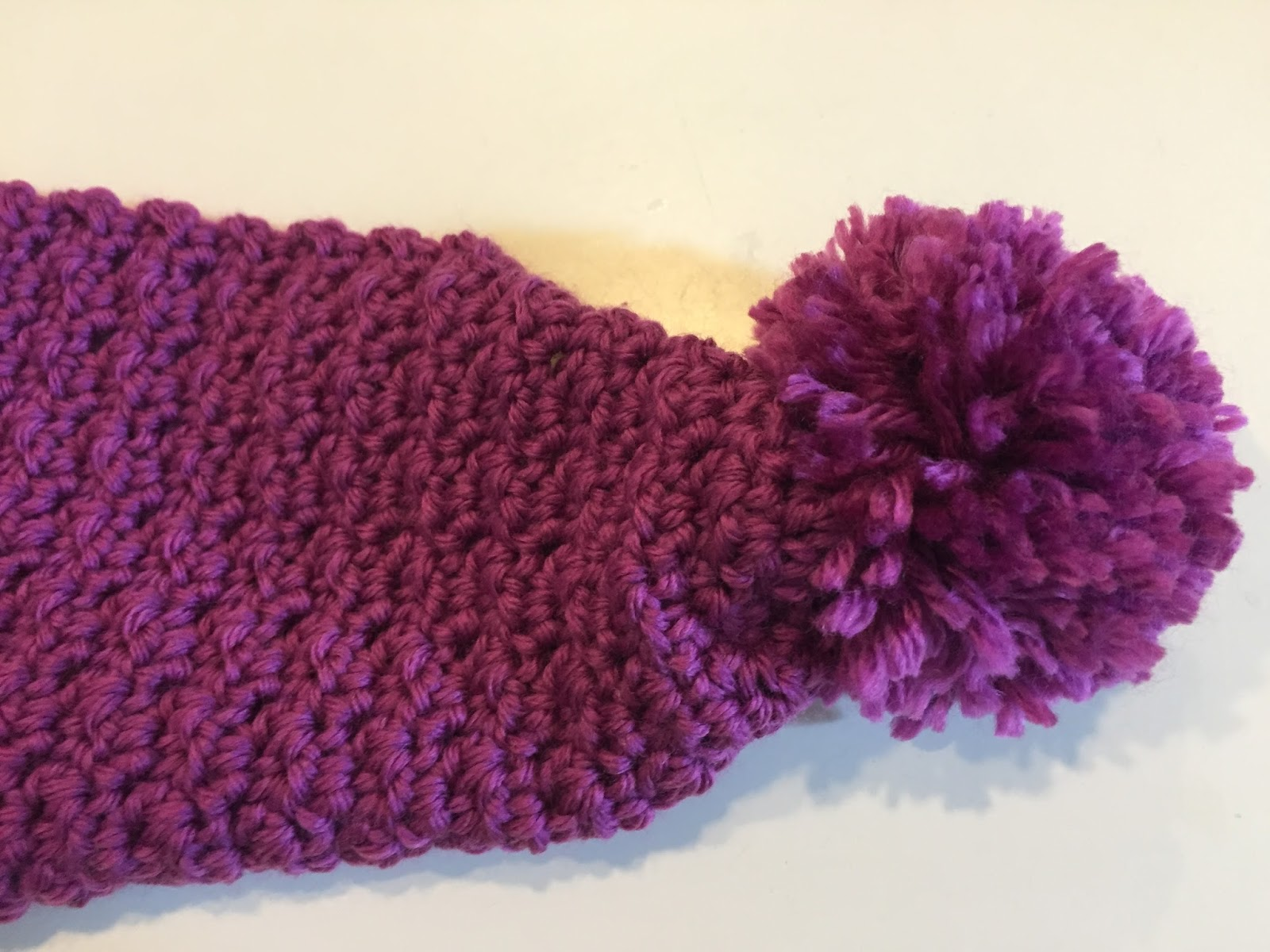 Crochet Patterns L Hook : Skein and Hook: Free Crochet Pattern: The Greene Pom Pom Scarf