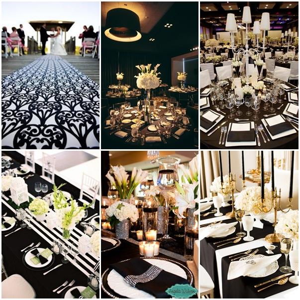 Novias novios decoraciones para una boda en blanco y negro muy divertida tematica - Decoracion blanco y negro ...