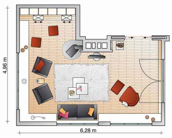 Living Room Layout.