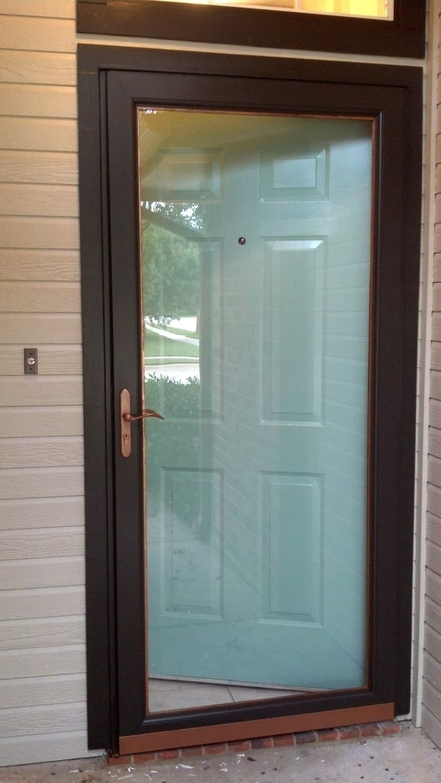Fix lovely how to paint your front door storm door and for Screen doors for front door