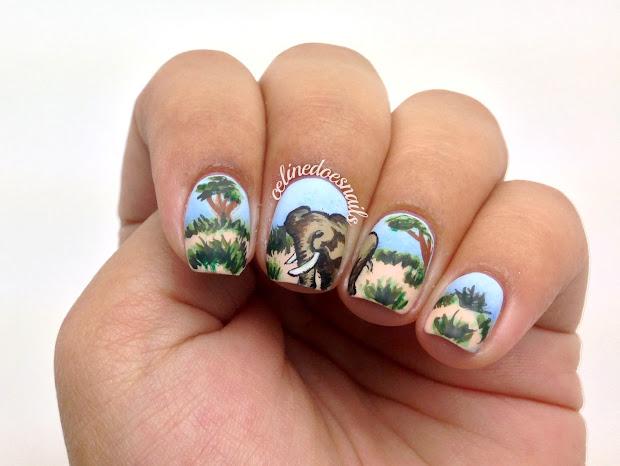 nails celine elephant