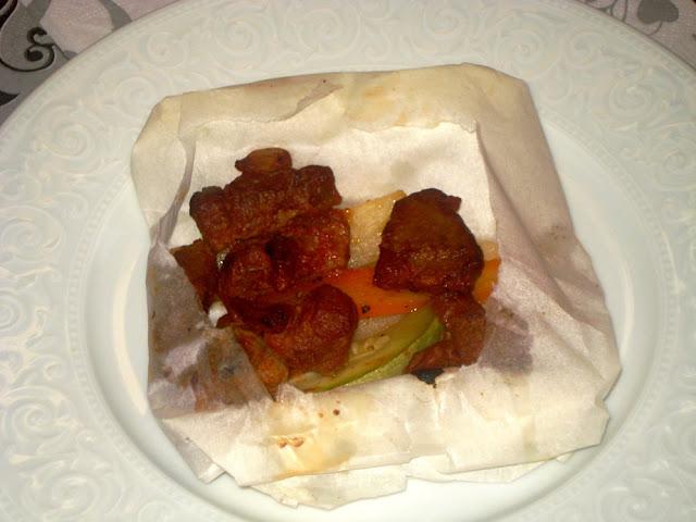 lamb kebab in paper