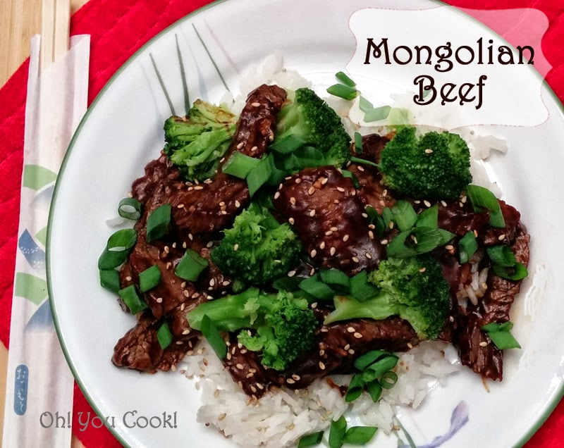 mongolian beef with steak - easy