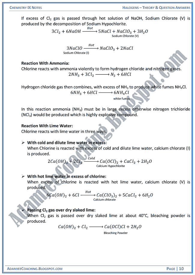 halogens-theory-notes-and-question-answers-chemistry-ix