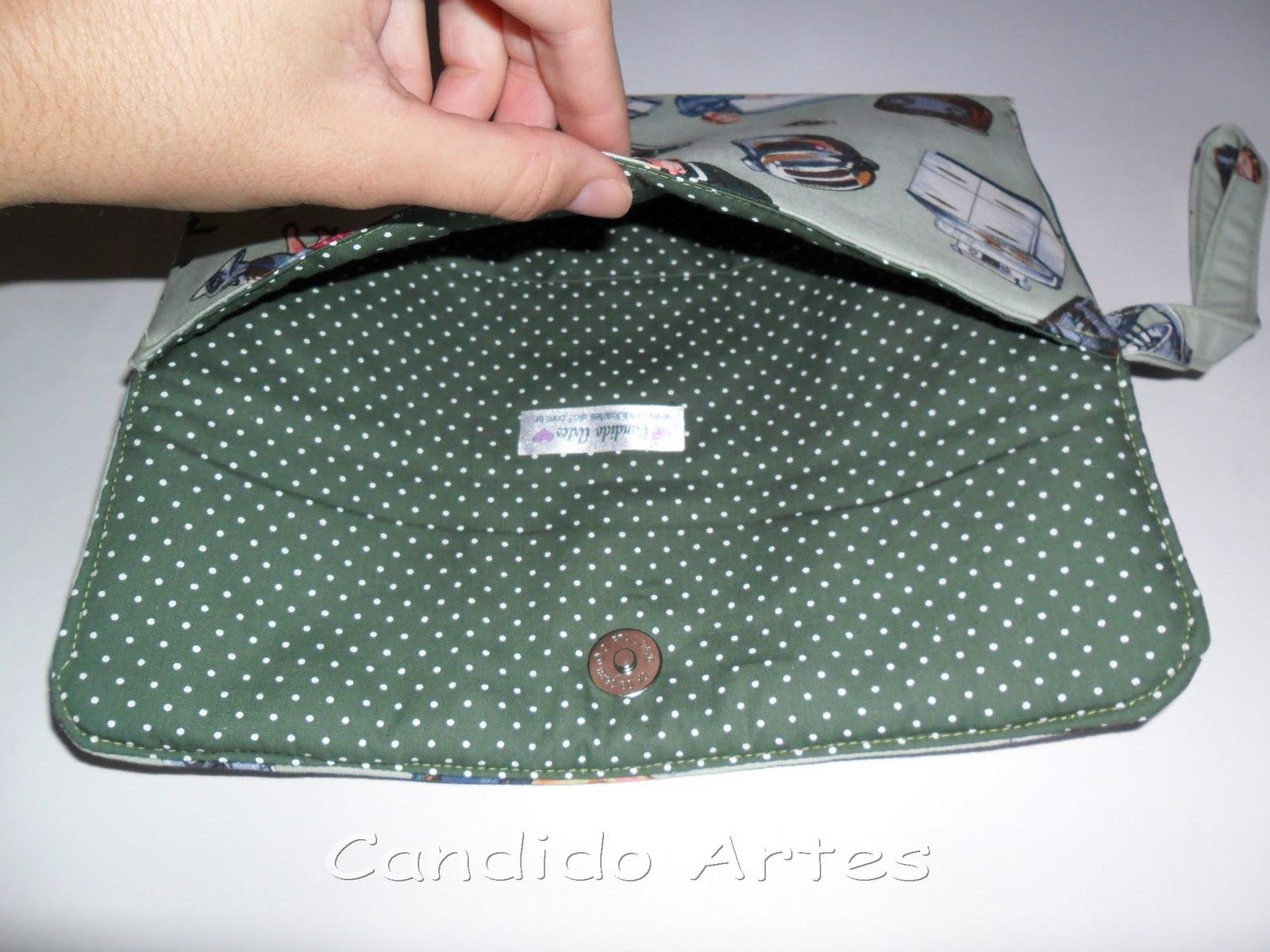 Bolsa De Tecido Artesanal : Artesanato candido artes bolsa de m?o carteira tecido pin