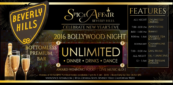 Bollywood New Year Eve 2016