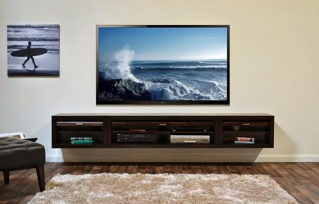 meja tv gantung minimalis modern