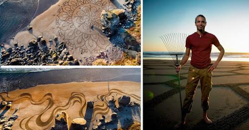 Confira estes incríveis desenhos feitos na areia da praia